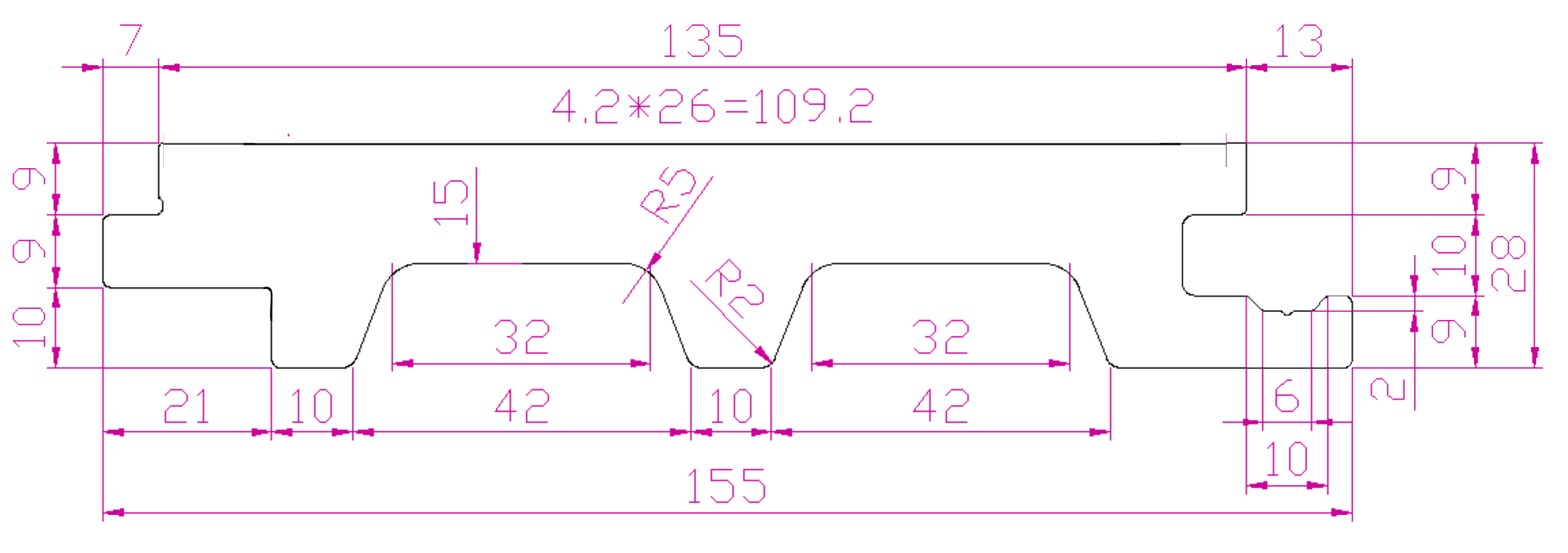 Размеры пустотелой доски дпк